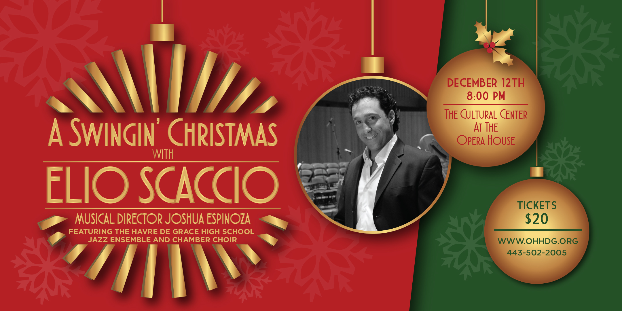 GET TICKETS:  A Swingin' Christmas with Elio Scaccio