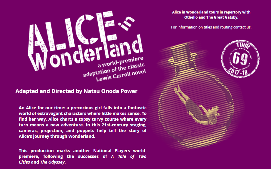 GET TICKETS:  National Players present Alice in Wonderland