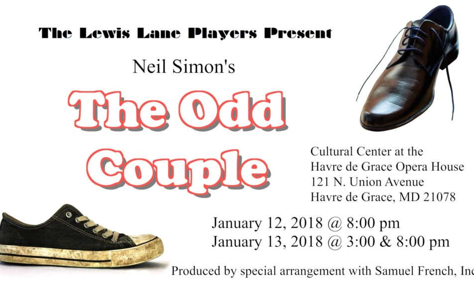 "GET TICKETS:  The Lewis Lane Players present Neil Simon's ""The Odd Couple"" – January 12 & 13"