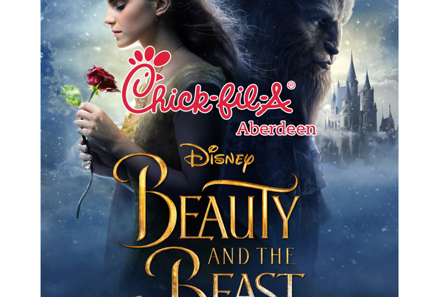 "GET TICKETS:  Chick-fil-A Aberdeen presents ""Beauty and the Beast"" (Family Film Series)"