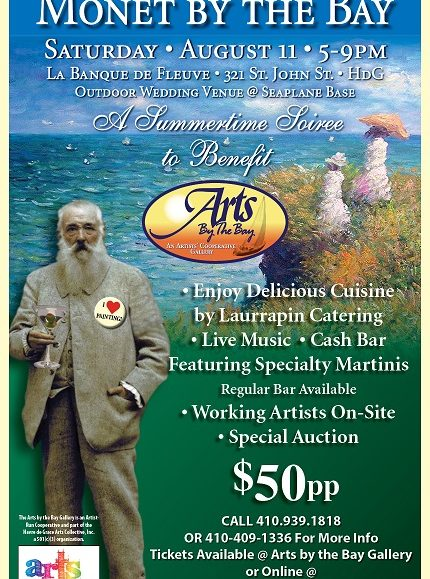GET TICKETS:  Monet By The Bay @ La Banque de Fleuve