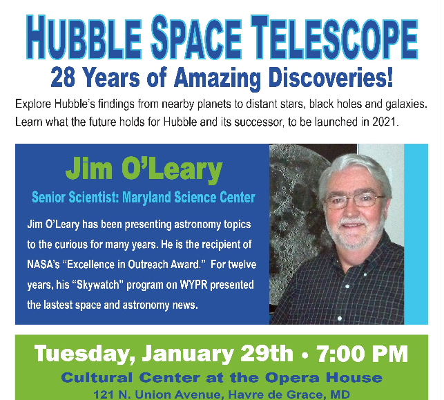 GET TICKETS:  The Lock House Museum's Shank Lecture Series: Hubble Telescope