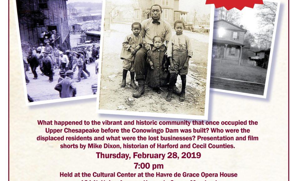 SOLD OUT!  The Susquehanna Museum at the Lock House presents The Shank Lecture Series: The Lost Village of Conowingo