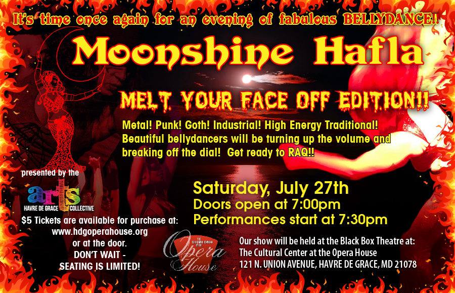 GET TICKETS:  Moonshine Hafla: Melt-Your-Face-Off Edition!!